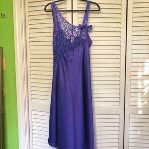 VINTAGE Victoria Secret Long Satin Nightgown Sz M